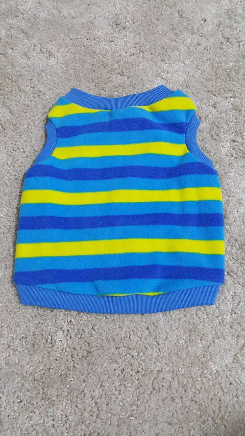 Warm Vest - blue and yellow stripes m No.