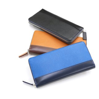 革職人 LEATHER FACTORY【BEAM Zip Clutch / Long Wallet】Made in Japan
