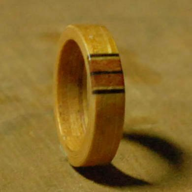 Teak wood streak mosaic series classical style ring on the ring can be customized Valentine's Day
