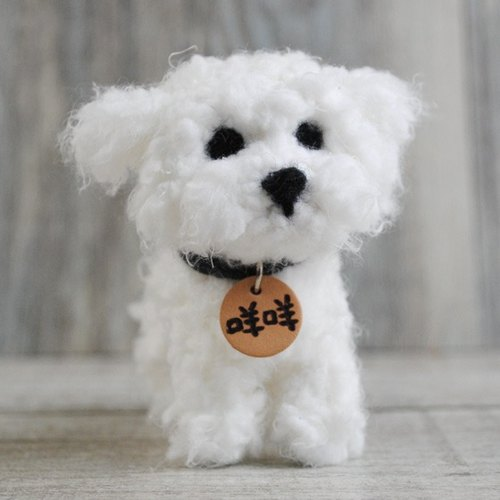 10cm pet cloned [feiwa Fei handmade doll BABY] Maltese pet doll (Welcome to order your dog)