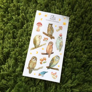 Stickers Owl (with white ink)