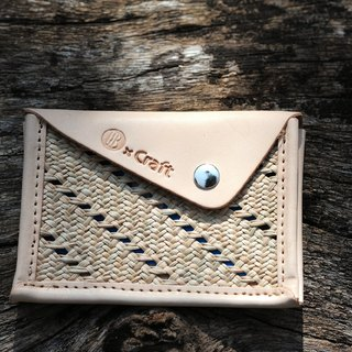 Contacts / ticket clip - hand-woven leather Rush +
