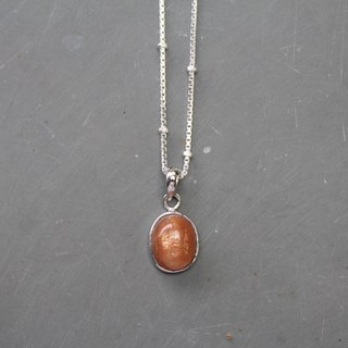 【Sunstone】Earth Series sterling silver necklace