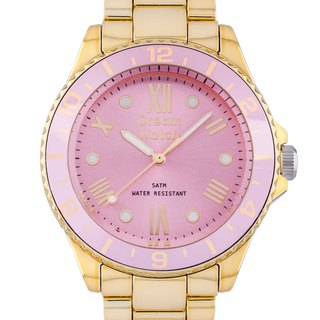 Dream Watch Anti-faceted three-dimensional metallic pink watch