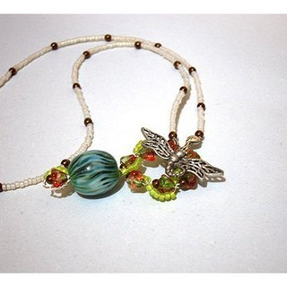 Hee green dragonfly necklace