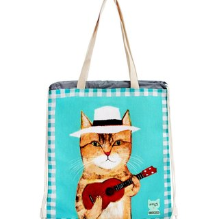 COPLAY  drawstring-cat play Ukulele