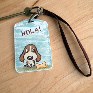 Multi-function card holder key ring -Hola! Miguel