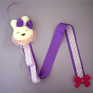 Children's hair accessories storage belt / wall decoration (bunny) limited hand made