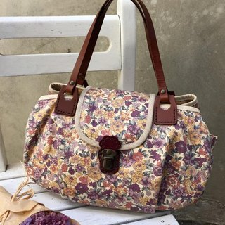 ﹞ ﹝ Clare cloth hand-made leather patchwork three French romantic purple bag handbag