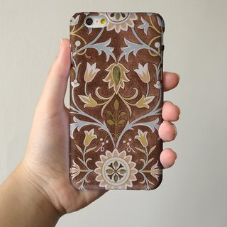 Floral pattern tribal brown 3D Full Wrap Phone Case, available for  iPhone 7, iPhone 7 Plus, iPhone 6s, iPhone 6s Plus, iPhone 5/5s, iPhone 5c, iPhone 4/4s, Samsung Galaxy S7, S7 Edge, S6 Edge Plus, S6, S6 Edge, S5 S4 S3  Samsung Galaxy Note 5, Note 4, Not