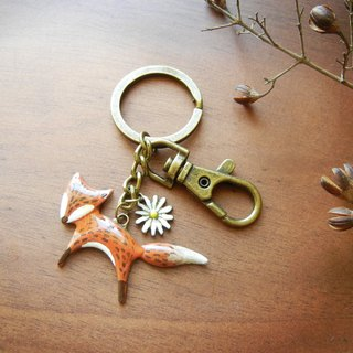 *coucoubird*hand-painted small fox charm