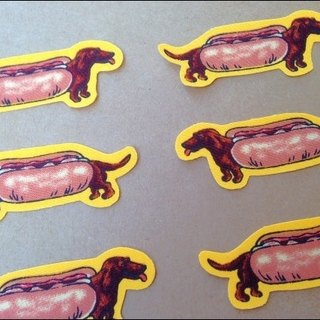:: :: Cloth sticker sticker book collection ‧ Fort Dachshund │abbiesee gift shop