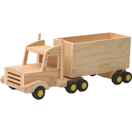 """Red ToolBox"" Woodpecker carpenter semi-trailers"