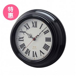 Vintage Roman Pattern Wall Clock - Black