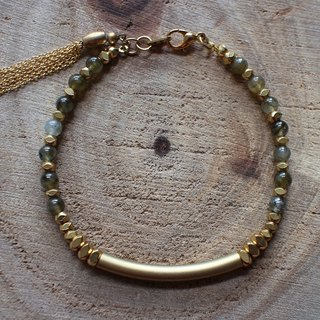 Muse natural wind series NO.88 flash stone bracelet brass elbow