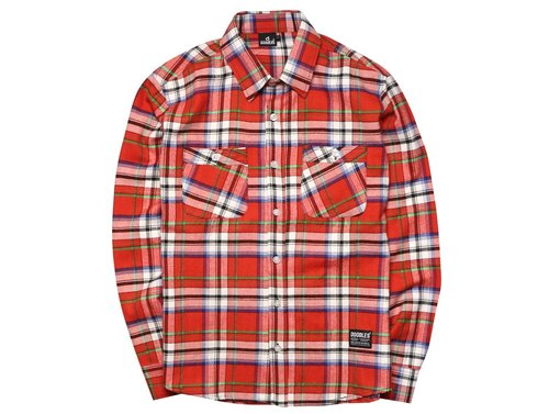 Doodles red cell Flannel shirts