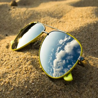 Solaris Sunglasses - Yellow&Mirror
