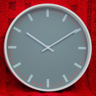 Pare - Gray Red Complex Clock (Metal)