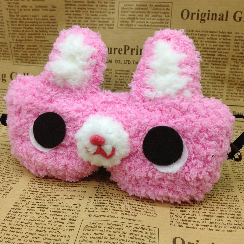 棉花糖動物眼罩-粉紅兔