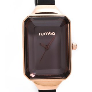 {Rumba Time} in New York fashionable watch brand Union Gem - Black Diamond Gold