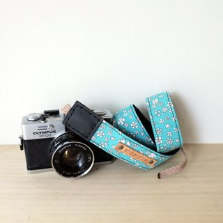 ENDORPHIN handmade camera strap (garden collection -lakeside)
