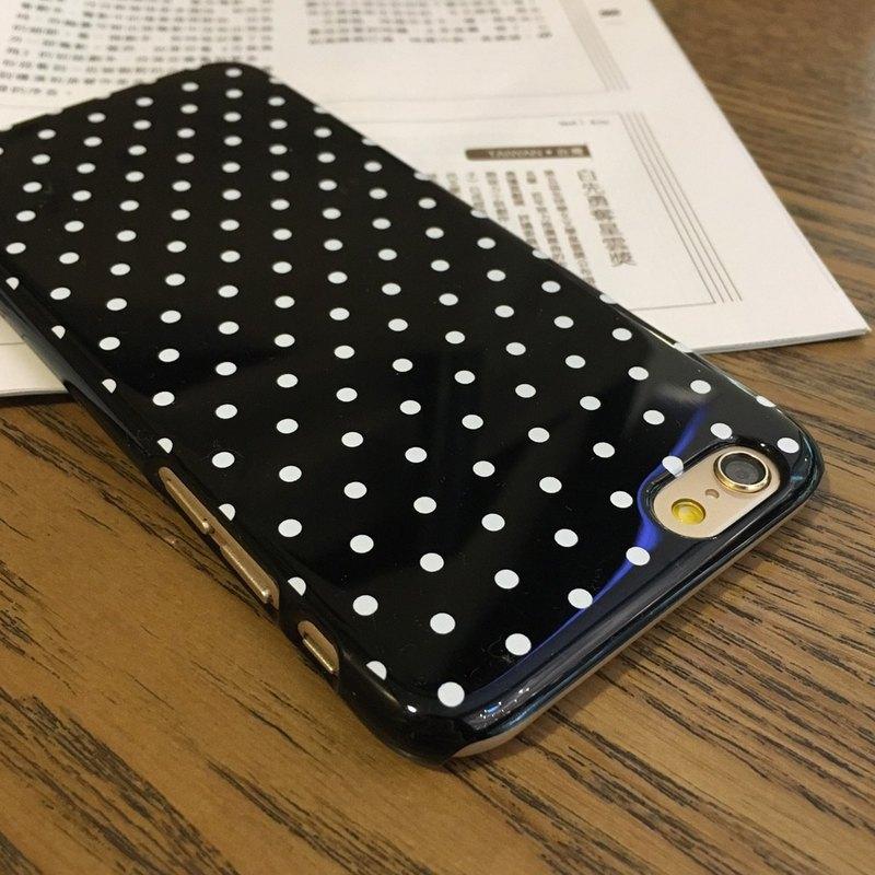 香港原創設計 簡約黑色波點圖案 手機保護殻 iPhone / Samsung
