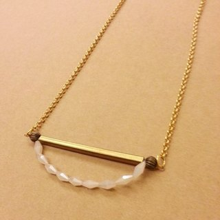 Korakuen KoraKuen Swing Circus [003] handmade white crystal necklace long swing