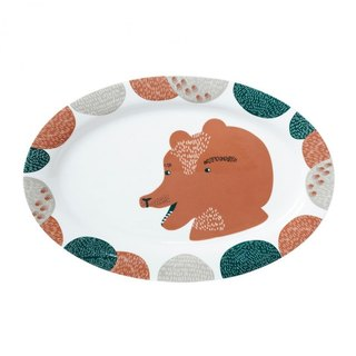 Hungry Bear Bone China Dinner Plate | Donna Wilson