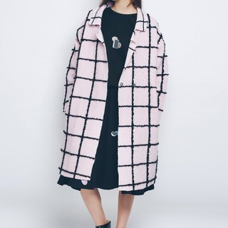 ZIZTAR checkered coat in a row