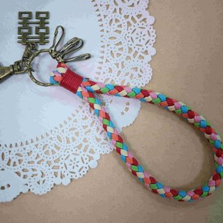 ~ M + Bear ~ vintage braided wire braided wax keychain key ring