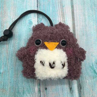 Marshmallow Animal Key Bag - Small Key Bag (Dark Owl)