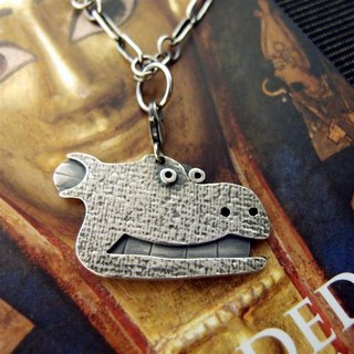 Ark Series --- hippo silver necklaces
