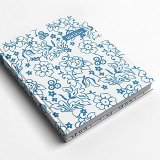 ☆ ° Rococo Strawberries WELKIN Handicraft Handbook / Notebook / Handbook / Diary - Blue and White Porcelain
