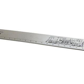 TRA stainless steel ruler - Alishan steam train (SHAY 28)