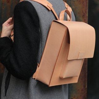 Leather box backpack Girlfriend backpack