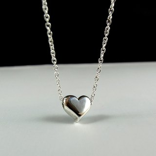 Handmade sterling silver necklace love three-dimensional (glossy texture) / clavicle chain / bracelet / Mother's Day / gift / Valentine's Day / Memorial Day