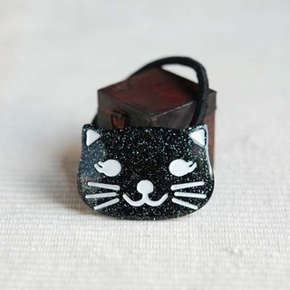 Black, bright cat, hair bundle, hair ring, hair accessories