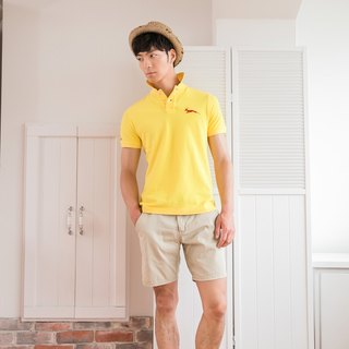 Cotton mesh Polo shirt Dazzling Huang Jingdian models