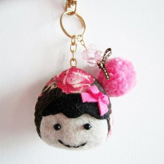 Pink Rose Doll Straps / Key Chains