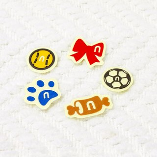 [Reflective stickers] hairy child small objects Fur-kids' toy 7.3 * 5.2 cm