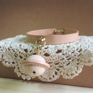 Pet leather bell collar size L