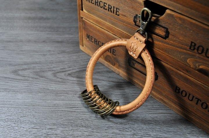 **  客製化  **  MICO復古的大當家皮革鑰匙環