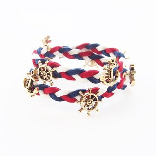 ♥ ELBRAZA ♥ Sailor bracelet - red white blue