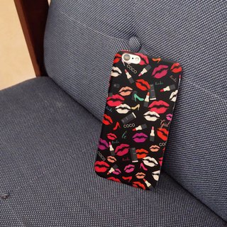 COCO red lip phone case