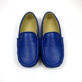 Fort Tony Wang leather handmade shoes kids [sheep / soled / color blue]