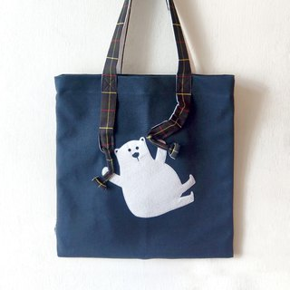 Animal Tote bag - Bear parachute from somewhere - Handmade