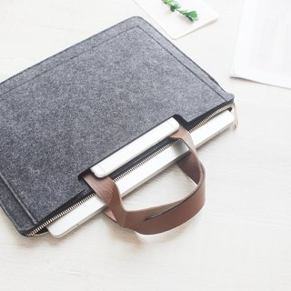 [Customizable] Original handmade light gray felt blankets Microsoft computer protective sleeve jacket laptop computer bag Surface Pro 4 plus type keyboard protective shell type cover touch cover (can be tailored) --001