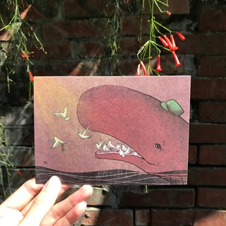 Story Postcard / Card - Sperm Whale / Dove - Hello
