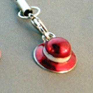 """Dear Deer"" i fashion understated minimalism red dome. Mobile phone strap"