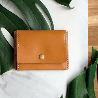 [ADOLE] leather hand made DIY set - coin purse - brown